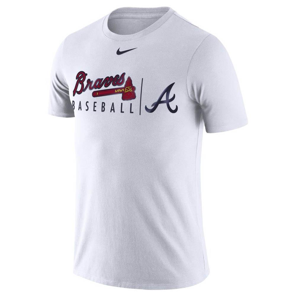 733ba9bb MLB Braves T-shirt practice dry men Nike /Nike white 00037031X-BV2 ...