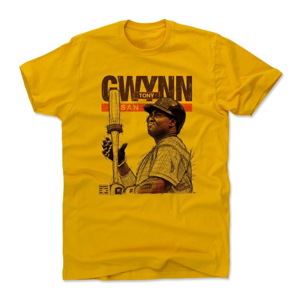 MLB Tシャツ パドレス トニー・グウィン Player Art Cotton T-Shirt 500Level ゴールド【1910価格変更】【1112LV】