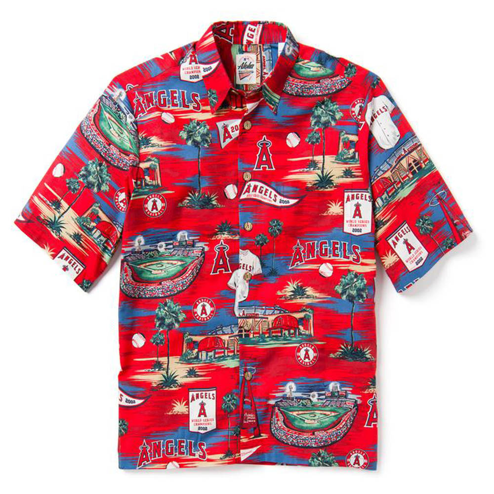 MLB エンゼルス ホームタウン シーニック ハワイアン レインスプーナー/Reyn Spooner