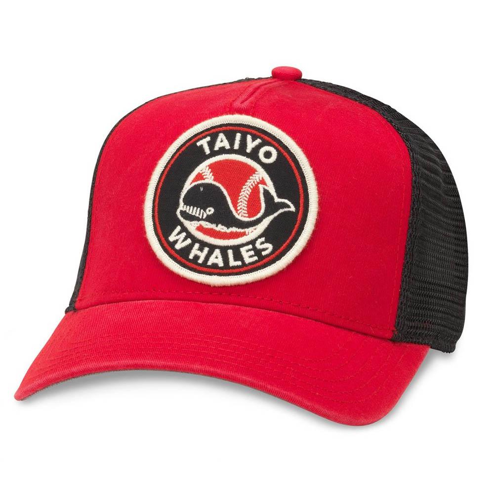 a4c7a6e1b4ed9e Yokohama ocean Whales goods cap / hat valine mesh American needle /American  Needle red /