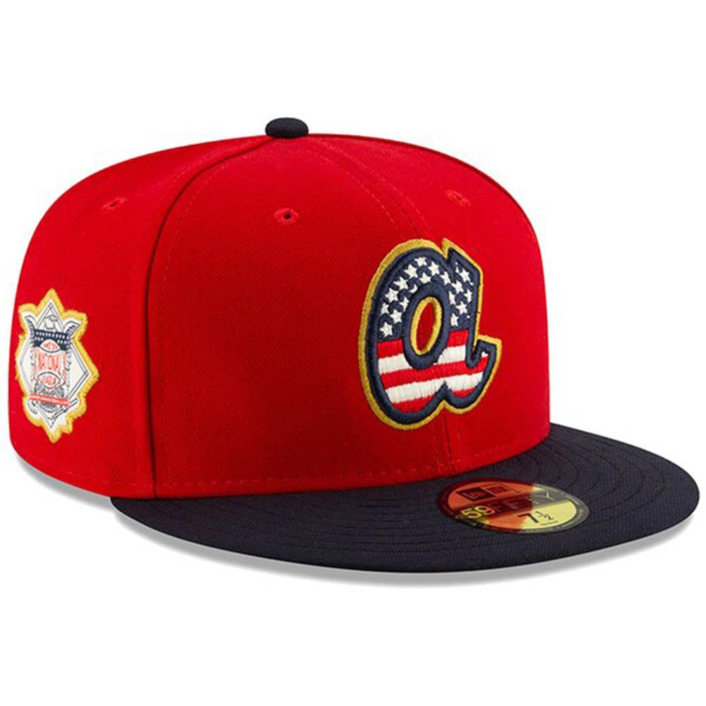 ブレーブス キャップ ニューエラ NEW ERA MLB 2019 スターズ&ストライプス オンフィールド フィット レッド【1910価格変更】【191028変更】