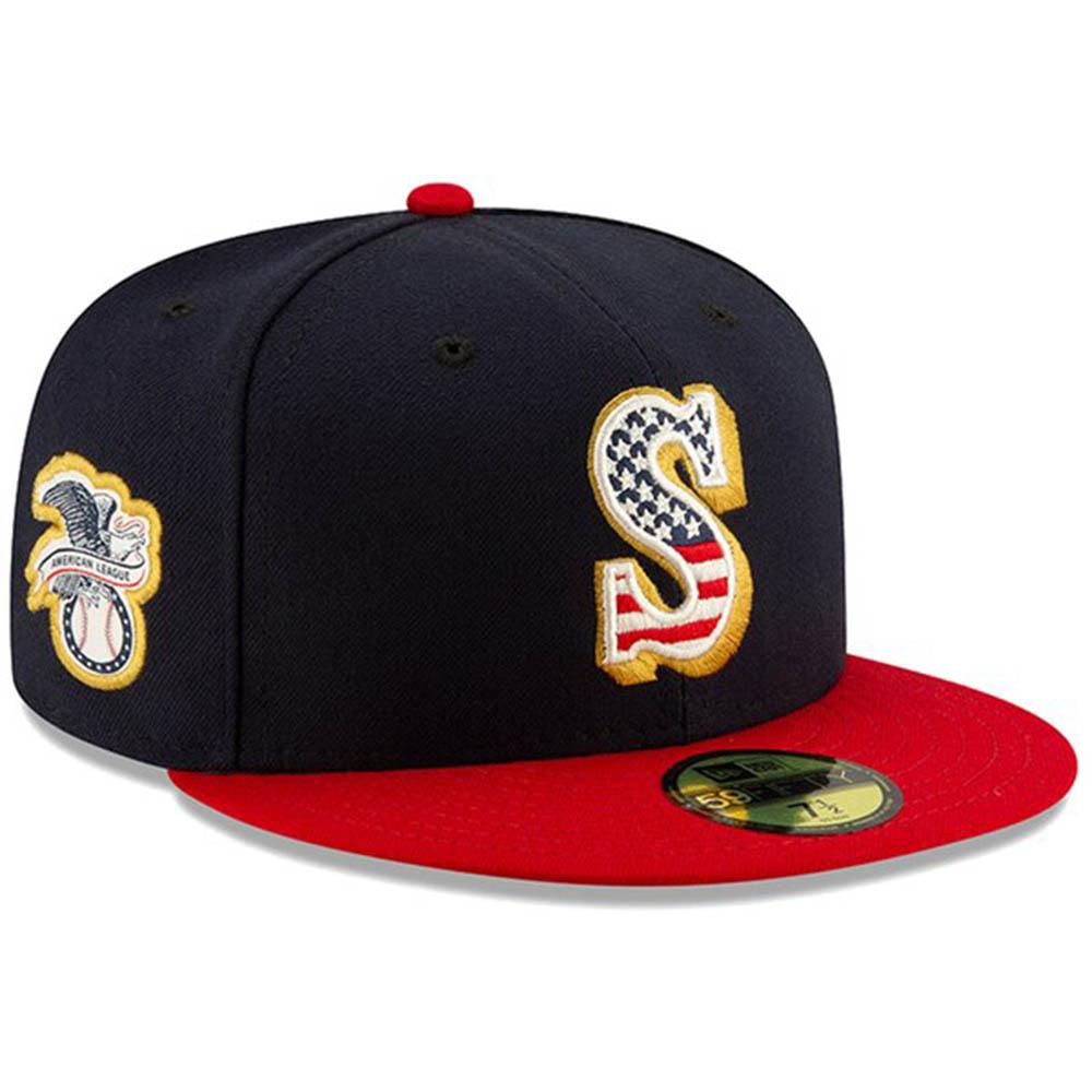 マリナーズ キャップ ニューエラ NEW ERA MLB 2019 スターズ&ストライプス オンフィールド フィット ネイビー【1910価格変更】【191028変更】