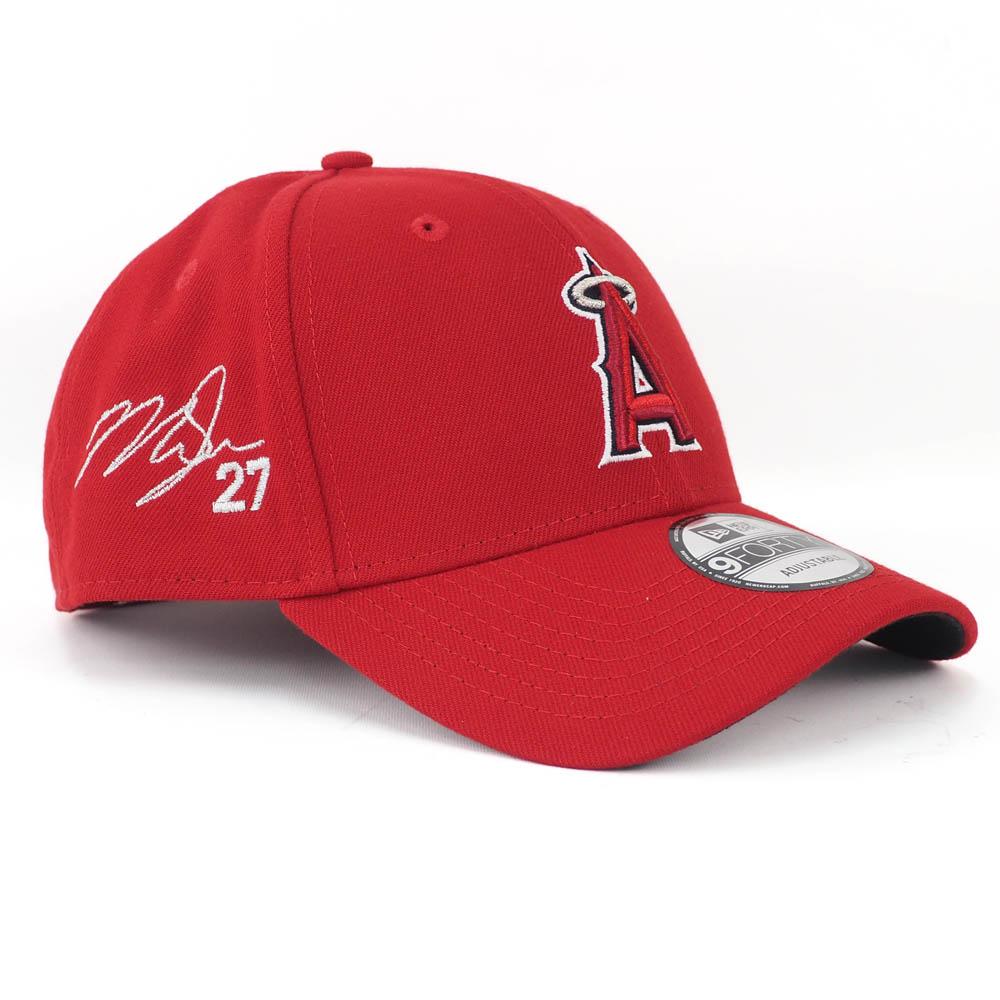 エンゼルス キャップ ニューエラ NEW ERA MLB マイク・トラウト 9FORTY サイン刺繍入り アジャスタブル ゲーム【1910価格変更】【191028変更】