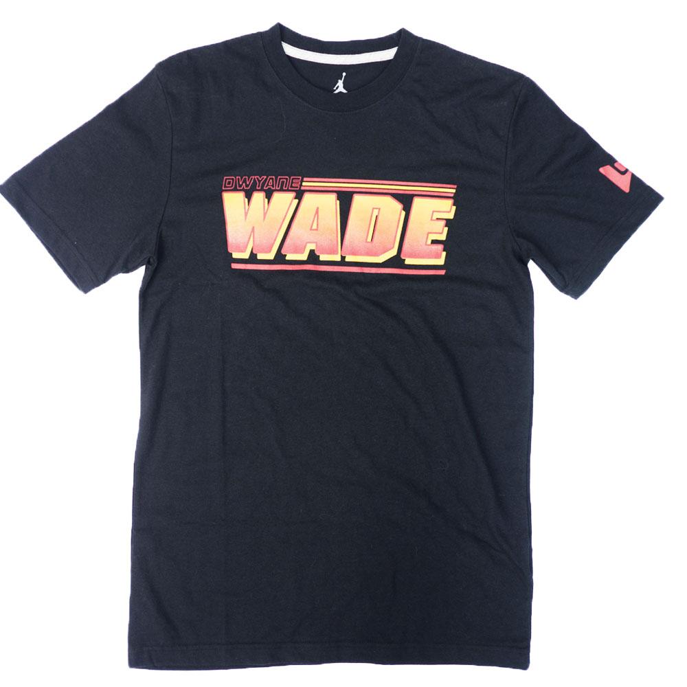 ジョーダン/JORDAN マイアミ・ヒート ドウェイン・ウェイド Tシャツ ウェイドロゴ Tシャツ ブラック 483370-010