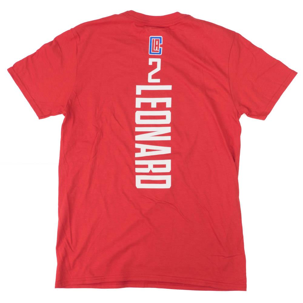 カワイ・レナード Tシャツ ロサンゼルス・クリッパーズ NBA プレーメーカーネーム&ナンバー レッド【1910価格変更】【1911NBAt】
