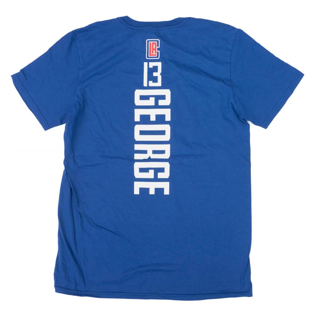 ポール・ジョージ Tシャツ ロサンゼルス・クリッパーズ NBA プレーメーカーネーム&ナンバー ロイヤル【1910価格変更】【1911NBAt】