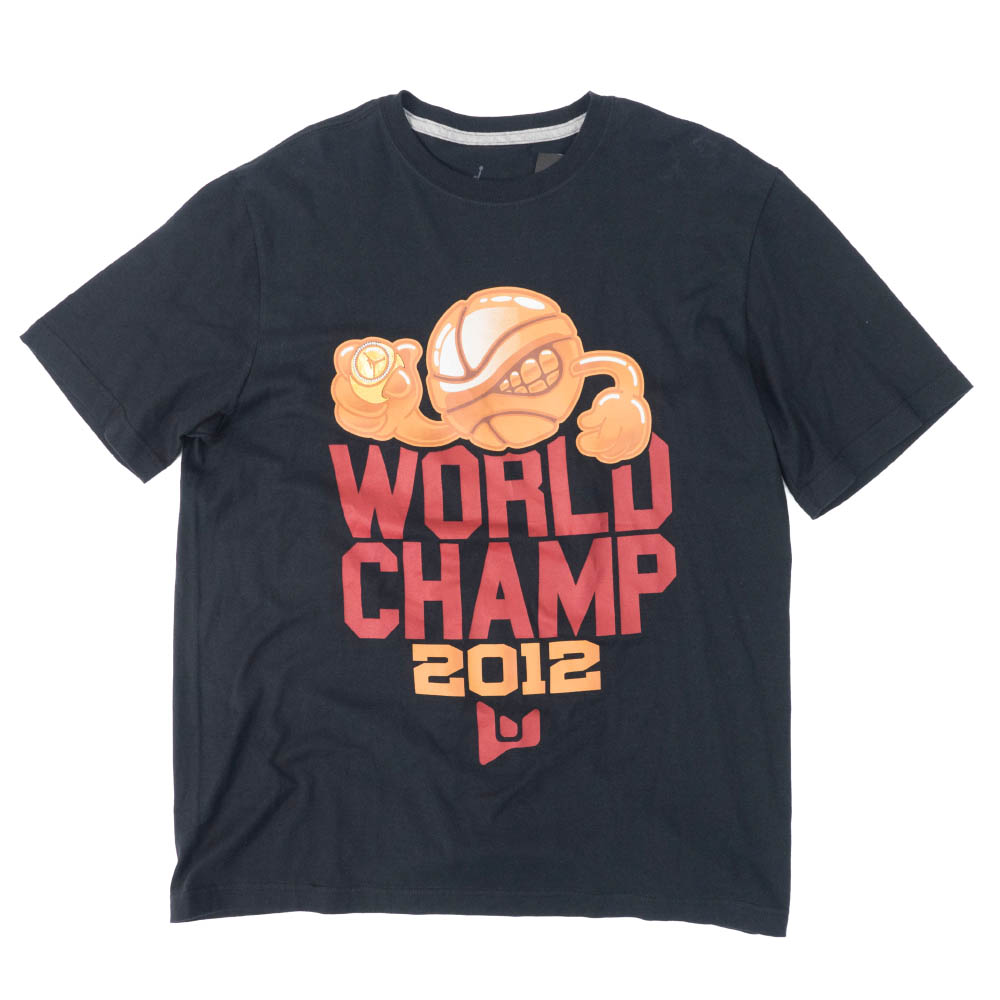 ジョーダン/JORDAN マイアミ・ヒート ドウェイン・ウェイド Tシャツ 2012 ワールドチャンプス ブラック