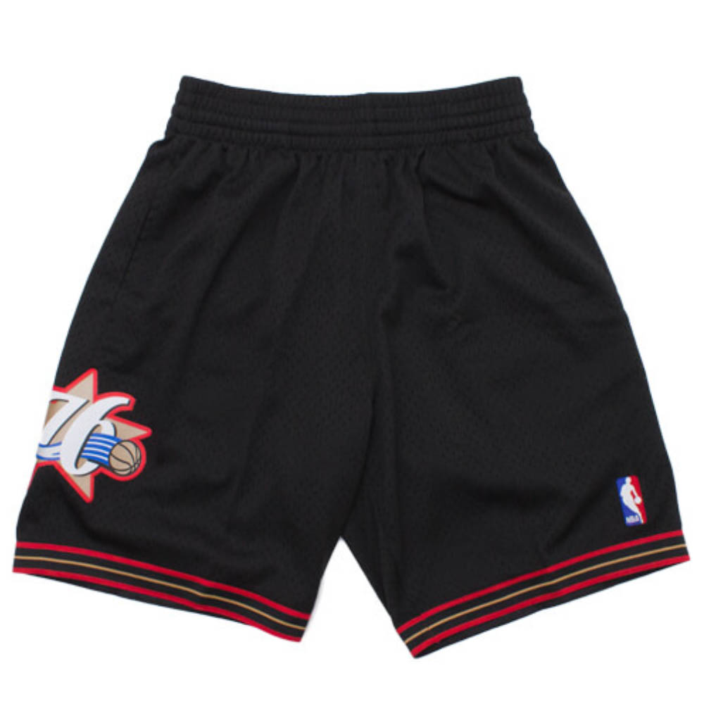 NBA フィラデルフィア・76ers ショートパンツ/ショーツ 2000-01 スウィングマン スローバック ショーツ Mitchell & Ness ブラック【1910価格変更】
