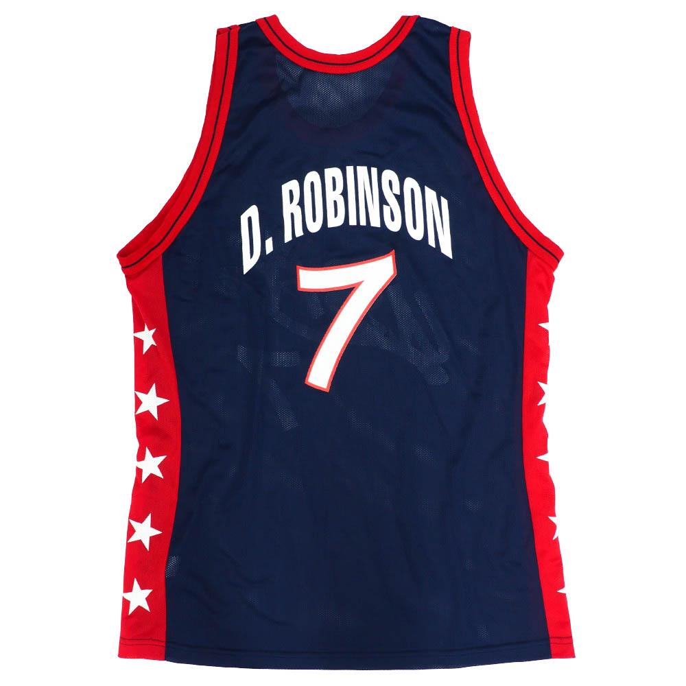 NBA デビッド・ロビンソン アメリカ代表 ユニフォーム/ジャージ ドリームチーム2 1994 レプリカ ジャージー チャンピオン/Champion【1910価格変更】