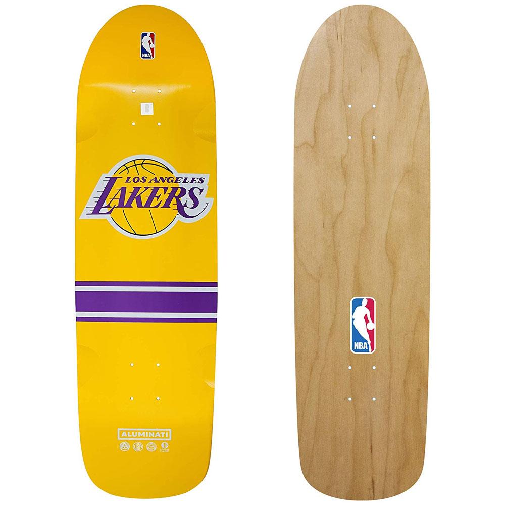 NBA ロサンゼルス・レイカーズ スケートボード デッキ Alminati ゴールド【1910価格変更】