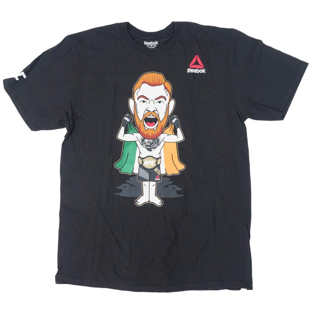 UFC コナ―・マクレガー Tシャツ 2-サイド アイリッシュ カートゥーン リーボック/Reebok ブラック【1910価格変更】