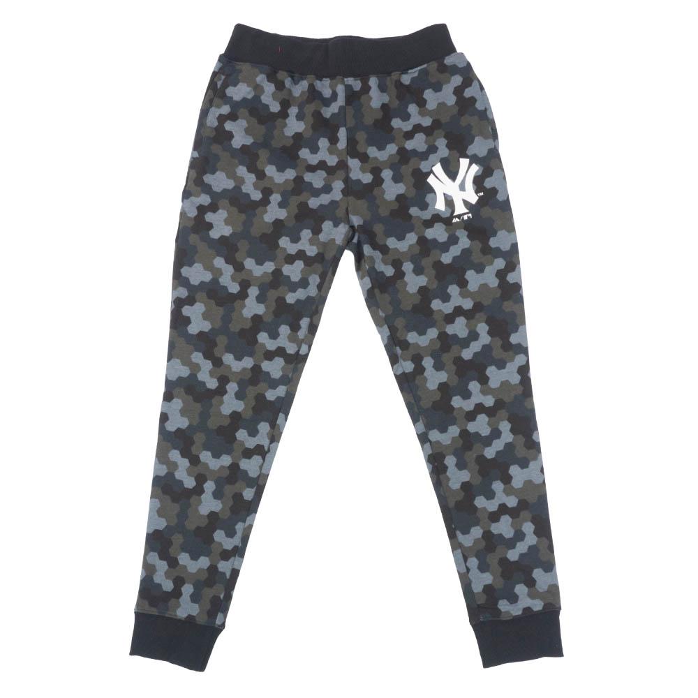 MLB ニューヨーク・ヤンキース ロングパンツ/ズボン トータル ハンドル スウェット パンツ マジェスティック/Majestic ブラックカモ