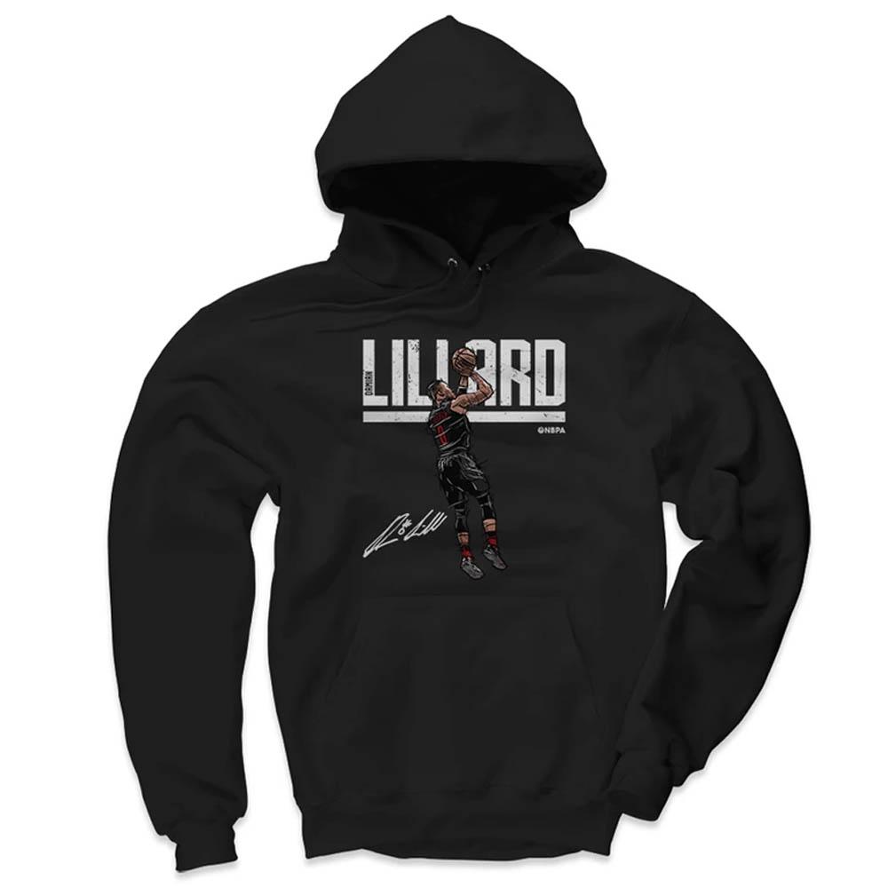 サマーセール NBA パーカー デイミアン・リラード ポートランド・トレイルブレイザーズ  500Level ブラック