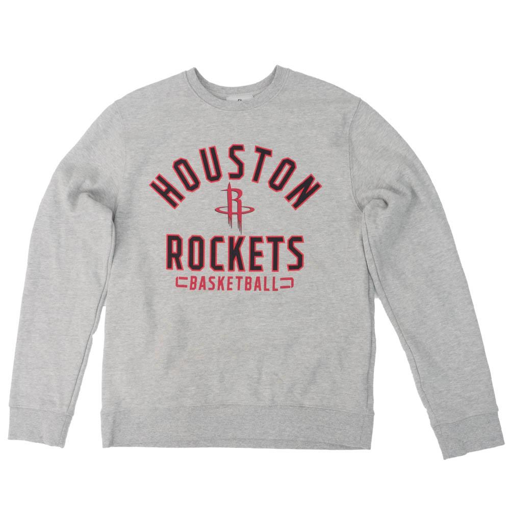 NBA スウェット ヒューストン・ロケッツトレーナー チームアーチ クルー フリース【1911NBAp】