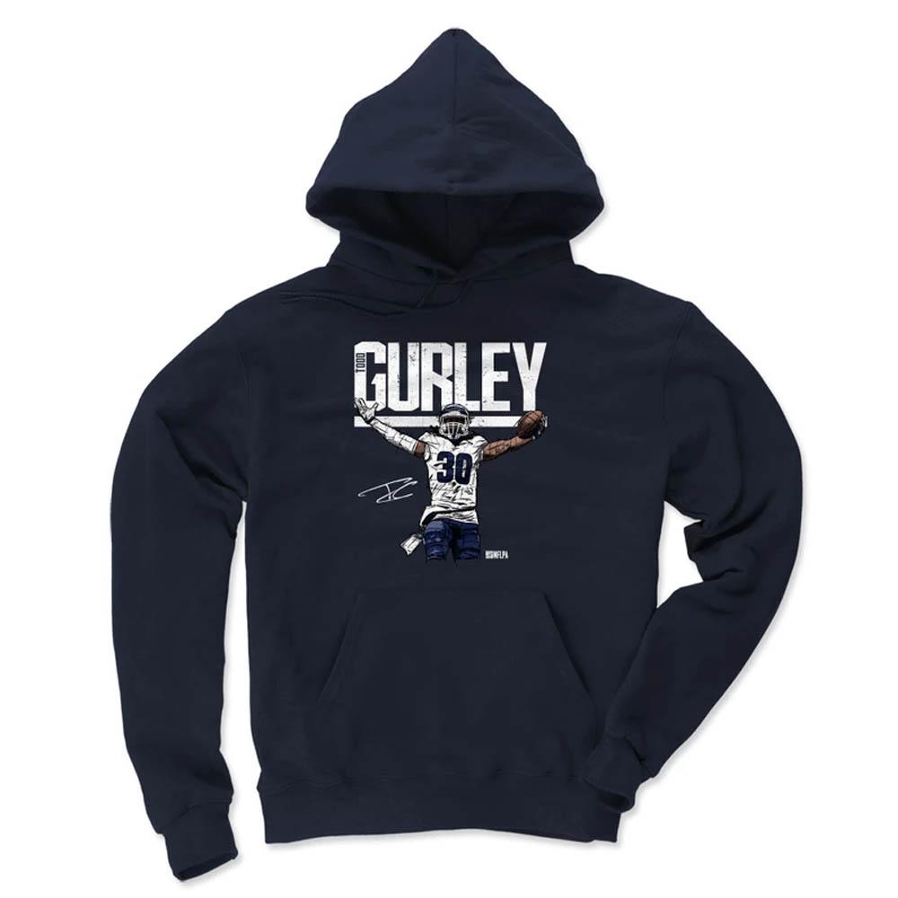 NFL パーカー トッド・ガーリー ラムズ フーディー プレーヤー アート コットン 500Level ネイビー