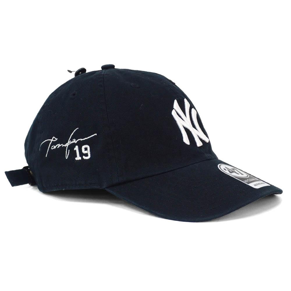 ヤンキース キャップ MLB 田中 将大 サイン刺繍入り カスタマイズ クリーンアップ 47 Brand ブラック【191028変更】