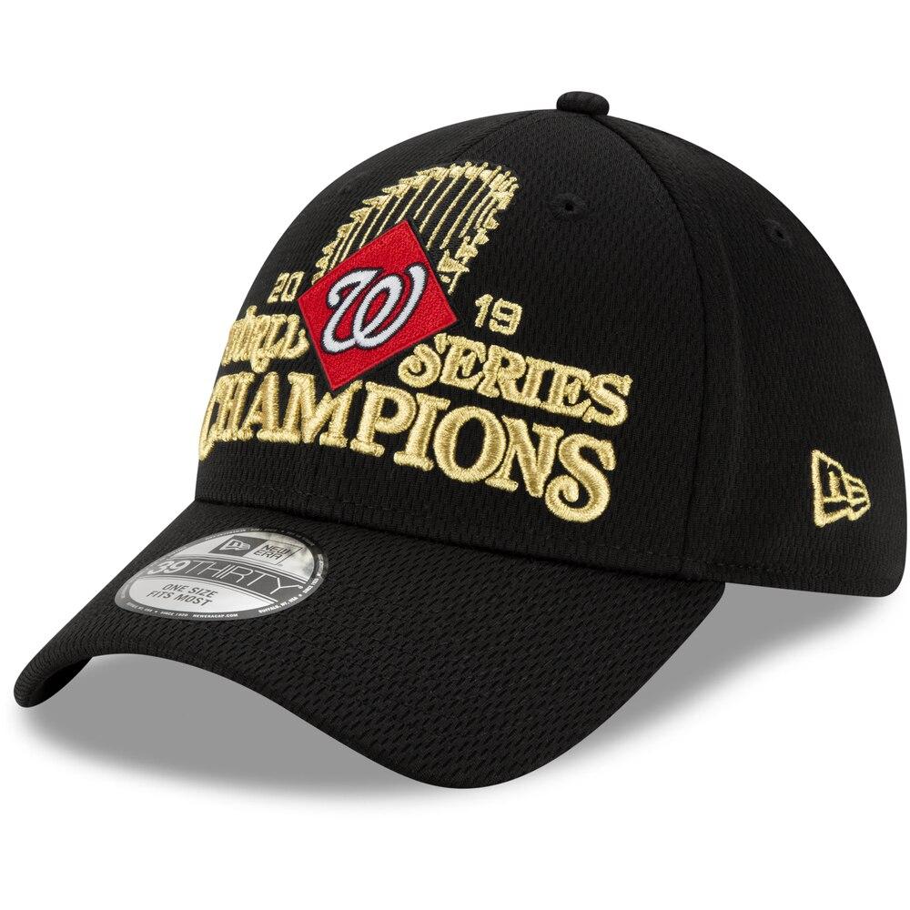 MLB ナショナルズ キャップ/帽子 ワールドシリーズ 2019 優勝記念 選手着用 ロッカールーム 39THIRTY ニューエラ/New Era ブラック