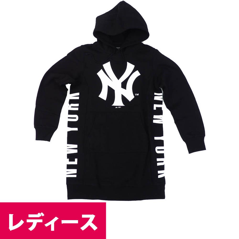 MLB ニューヨーク・ヤンキース パーカー/フーディー フード付きワンピース マジェスティック/Majestic ブラック