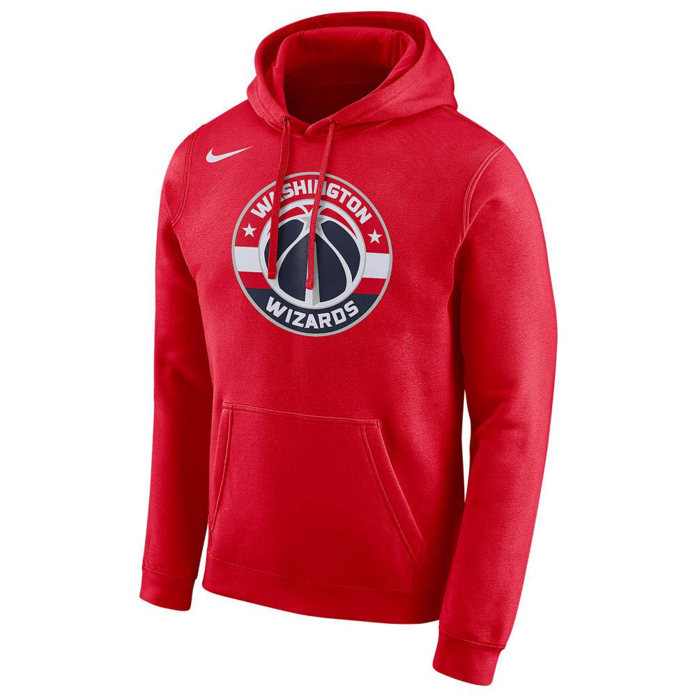 NBA パーカー ワシントン・ウィザーズ フーディー ロゴ フリース ナイキ/Nike レッド AA3703-657【1911NBAp】
