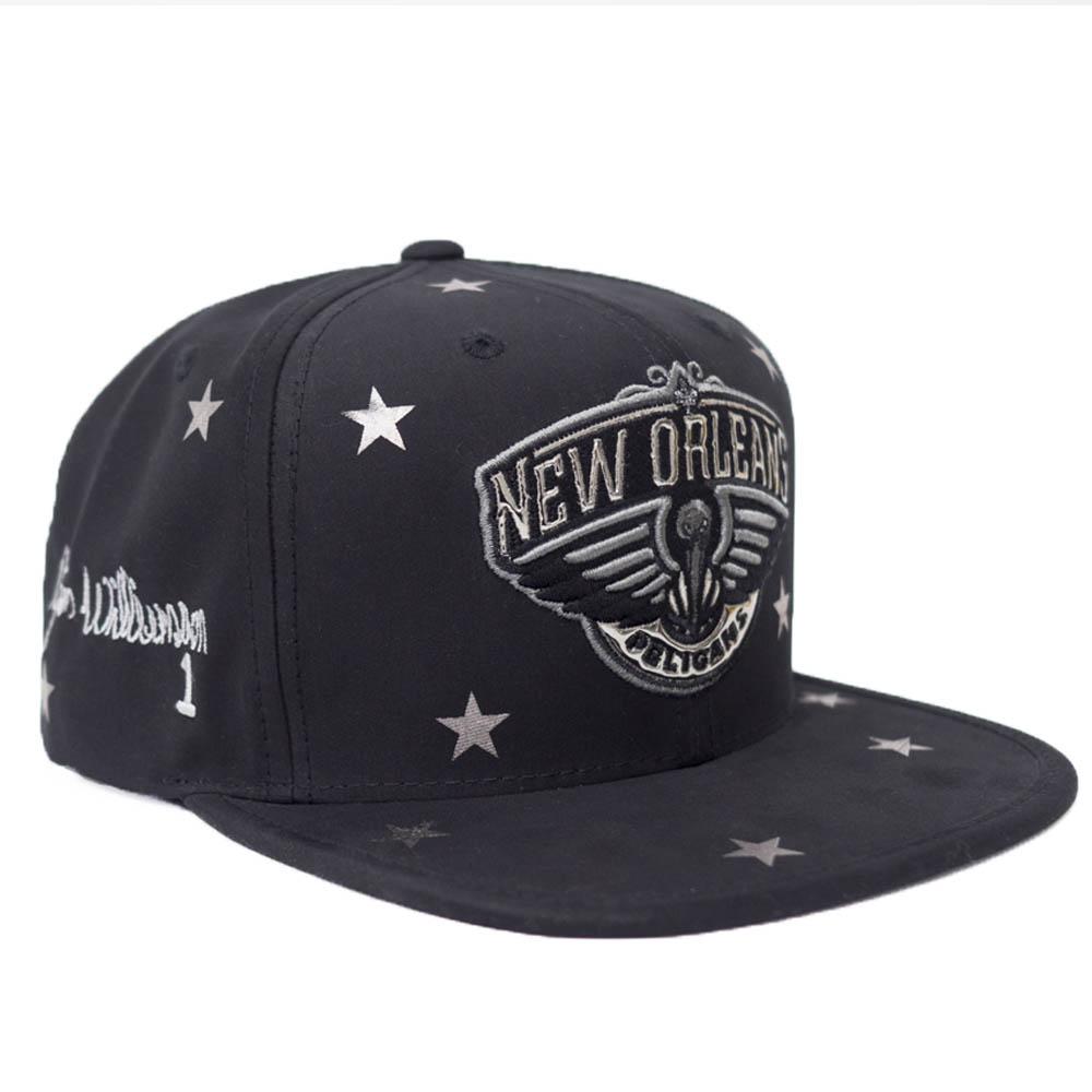 ザイオン・ウィリアムソン ニューオーリンズ・ペリカンズ キャップ/帽子 NBA サイン刺繍 スナップバック Mitchell & Ness ブラック