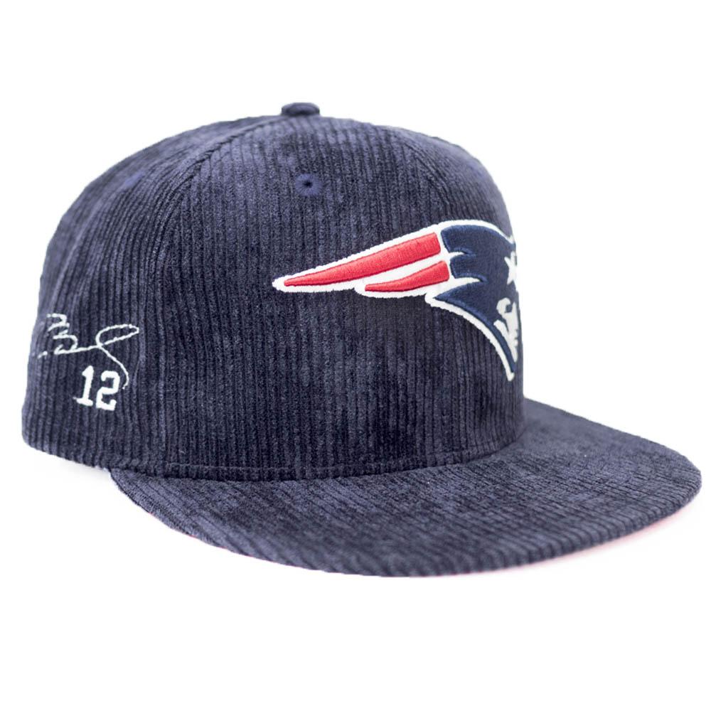 トム・ブレイディ ペイトリオッツ キャップ/帽子 NFL サイン刺繍入り ニューエラ/New Era ネイビー