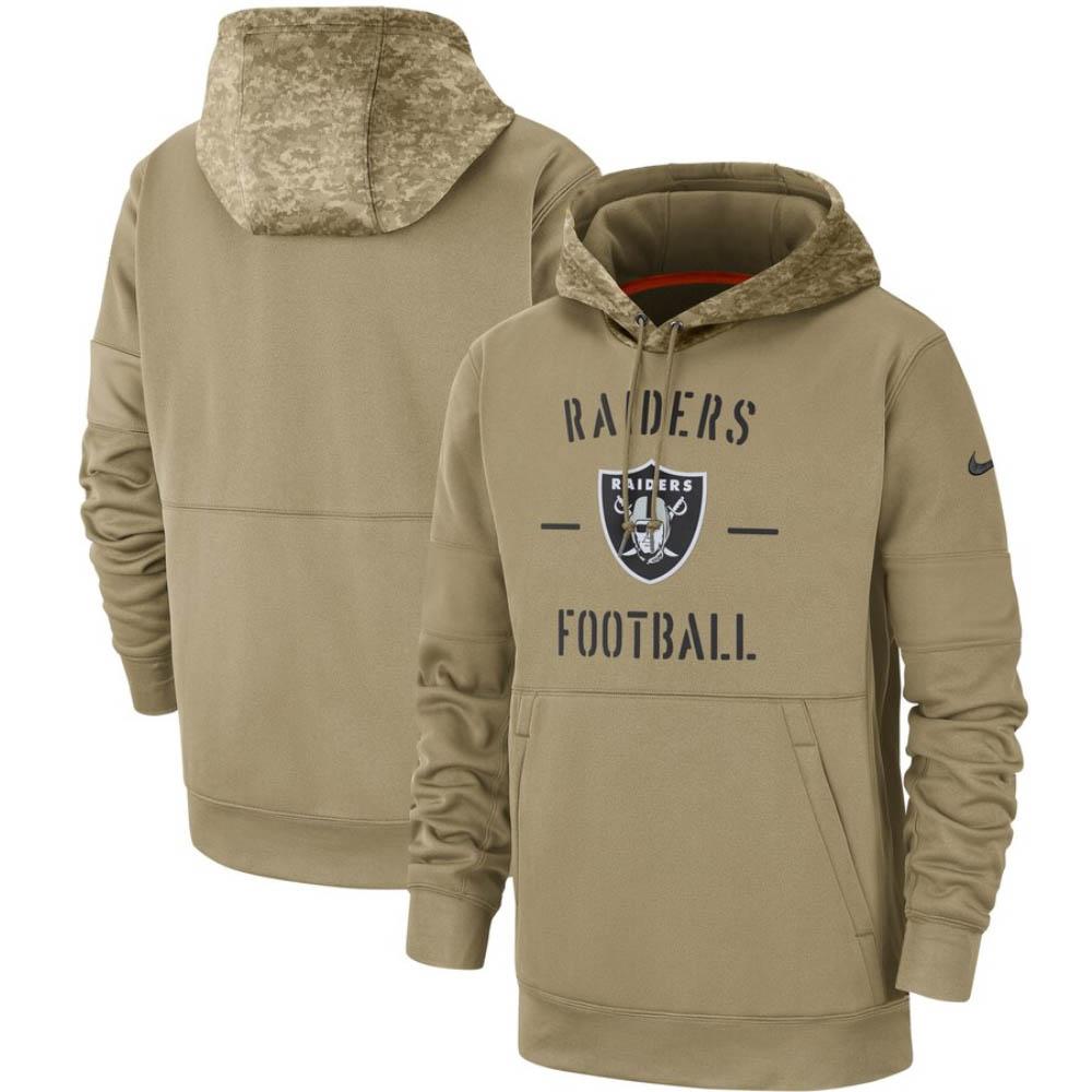 NFL パーカー レイダース フーディー 2019 サルート トゥ サービス サイドライン プルオーバー ナイキNike タン AT6743-297