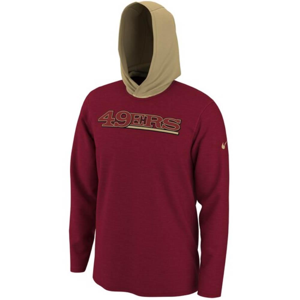 スーパーボウル進出 NFL 49ers Tシャツ フーディー ヘルメット ロング スリーブ ナイキ/Nike レッド BQ7017-687