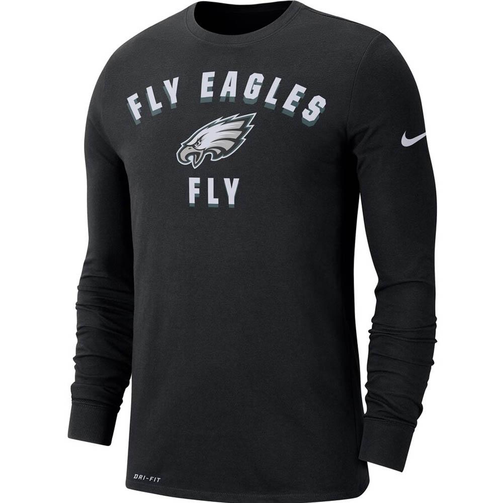 NFL イーグルス スウェットシャツ/トレーナー サイドライン ローカル パフォーマンス ロング スリーブ ナイキ/Nike ブラック CI4945-010