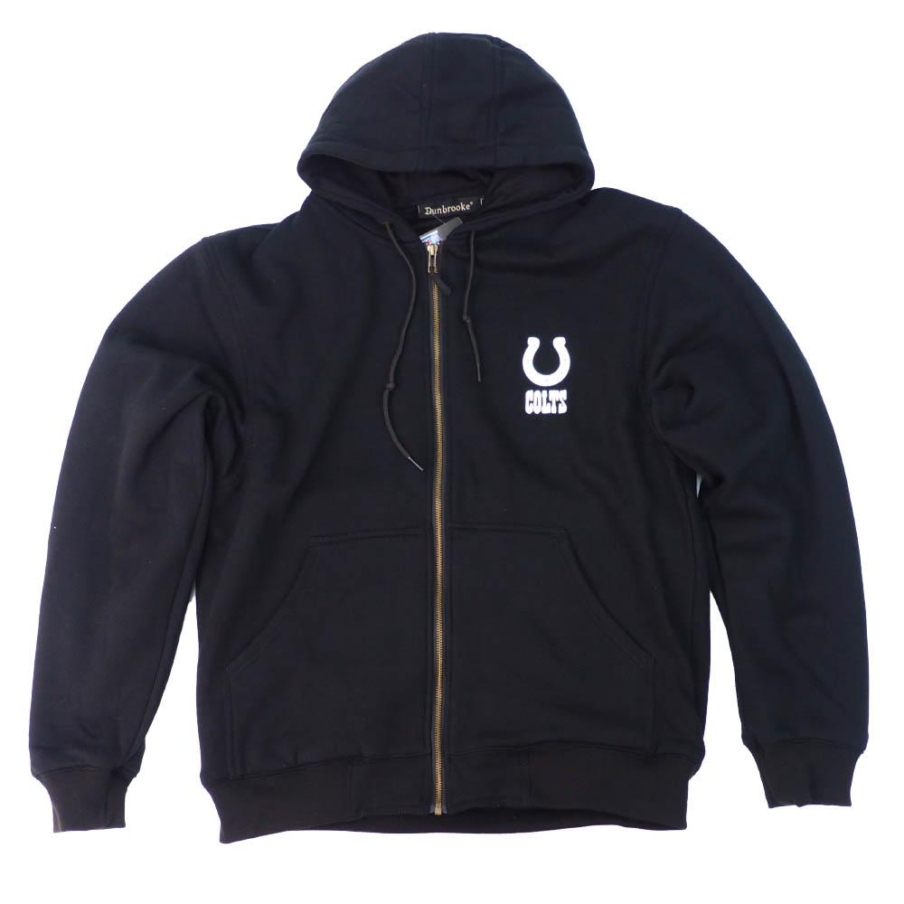 【リニューアル記念メガセール2】NFL パーカー コルツ フーディー クラフツマン フルジップ Dunbrooke ブラック