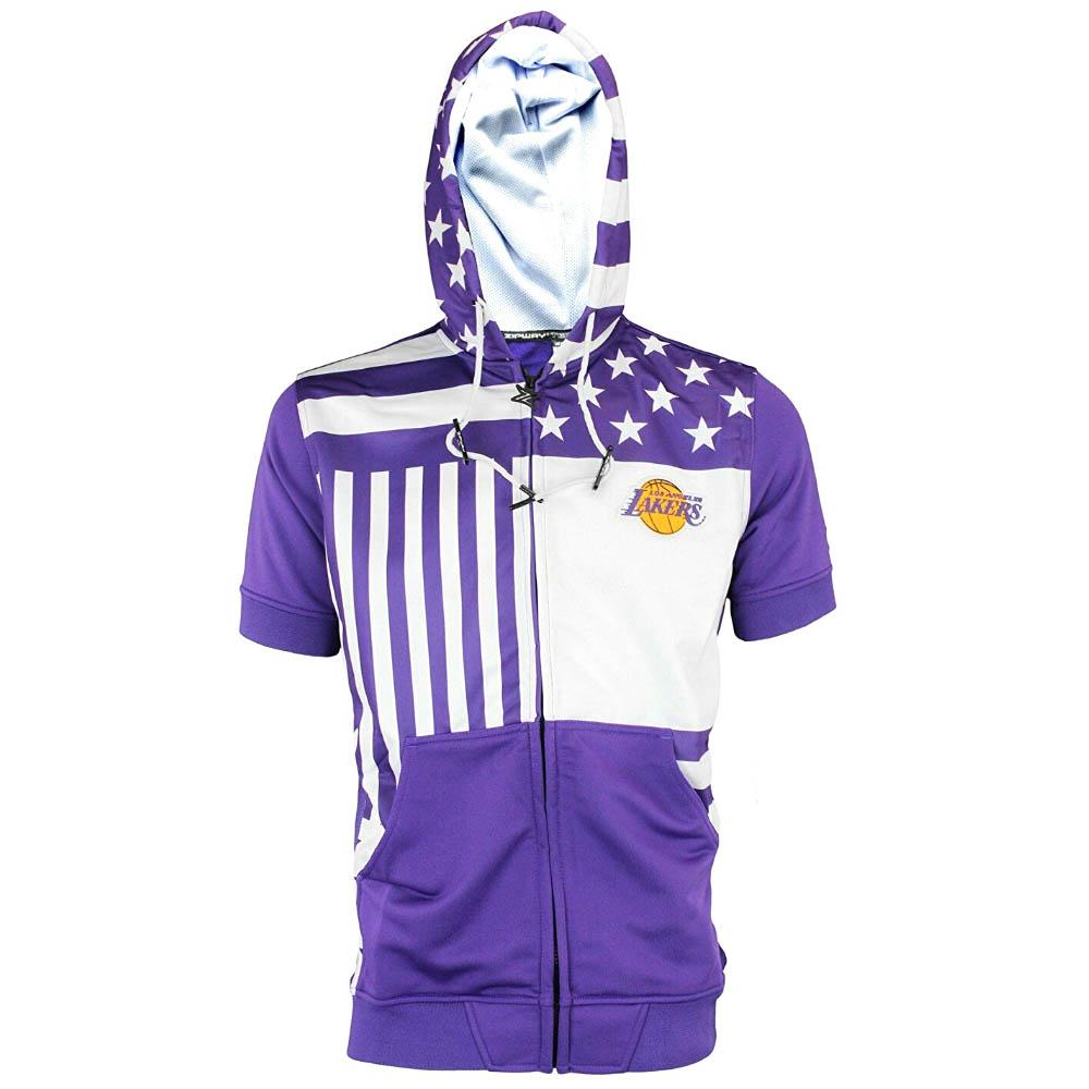 NBA ロサンゼルス・レイカーズ パーカー/フーディー フルジップ フラッグ S/S フーディー ZipWay ホワイト