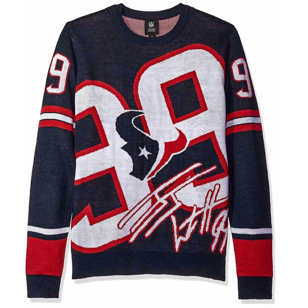 NFL スウェット J.J.・ワット テキサンズ トレーナー プレイヤー セーター ニット Forever Collectibles ネイビー