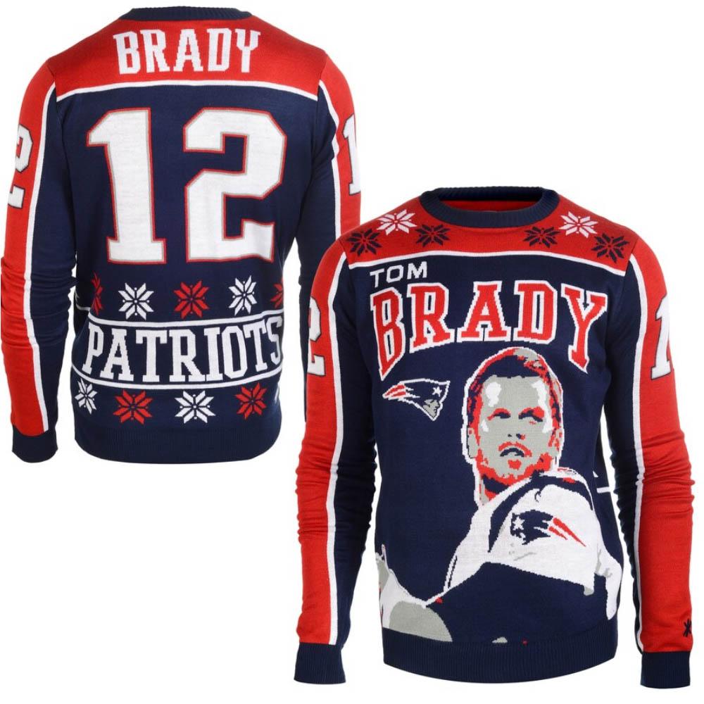NFL スウェット トム・ブレイディ ペイトリオッツ トレーナー アグリー セーター ニット Klew ネイビー