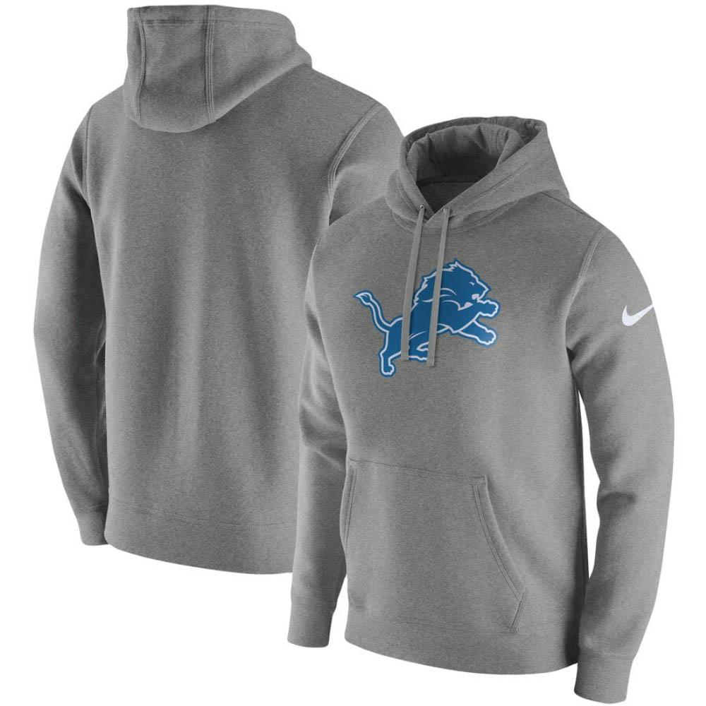 NFL パーカー ライオンズ ナイキ Nike フーディー プルオーバー フリース クラブ ダーク グレー ヘザー