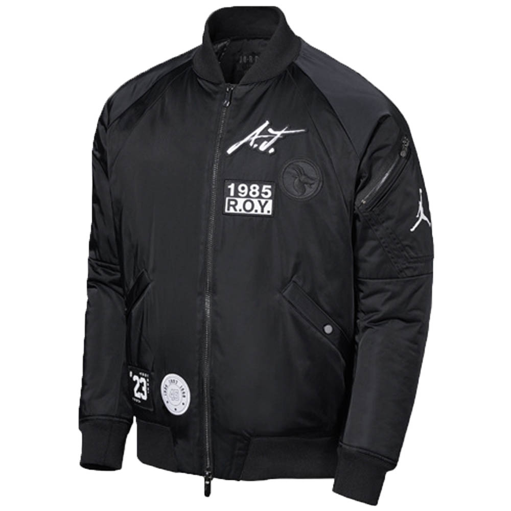 JORDAN ジョーダン ジャケット スタジャン スポーツウェア グレイテスト J-1 ボンバー ブラック AV5998-010