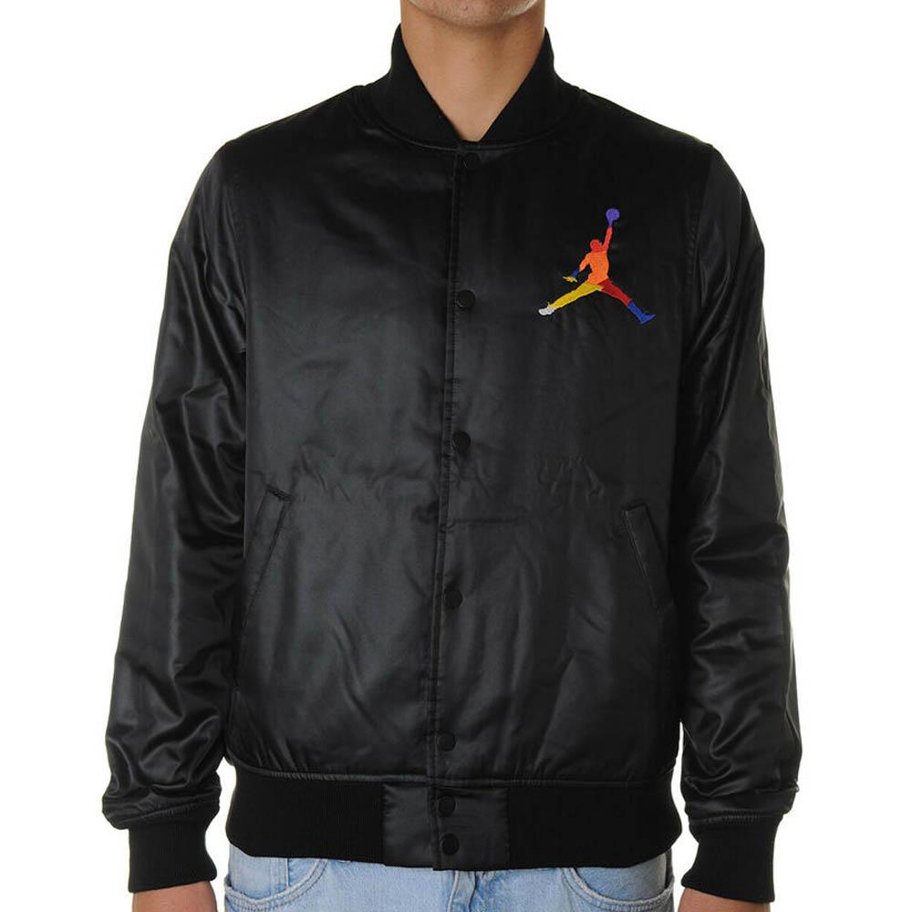 JORDAN ジョーダン ジャケット スタジャン スポーツ DNA HBR サテン ボンバー ブラック AV0112-01