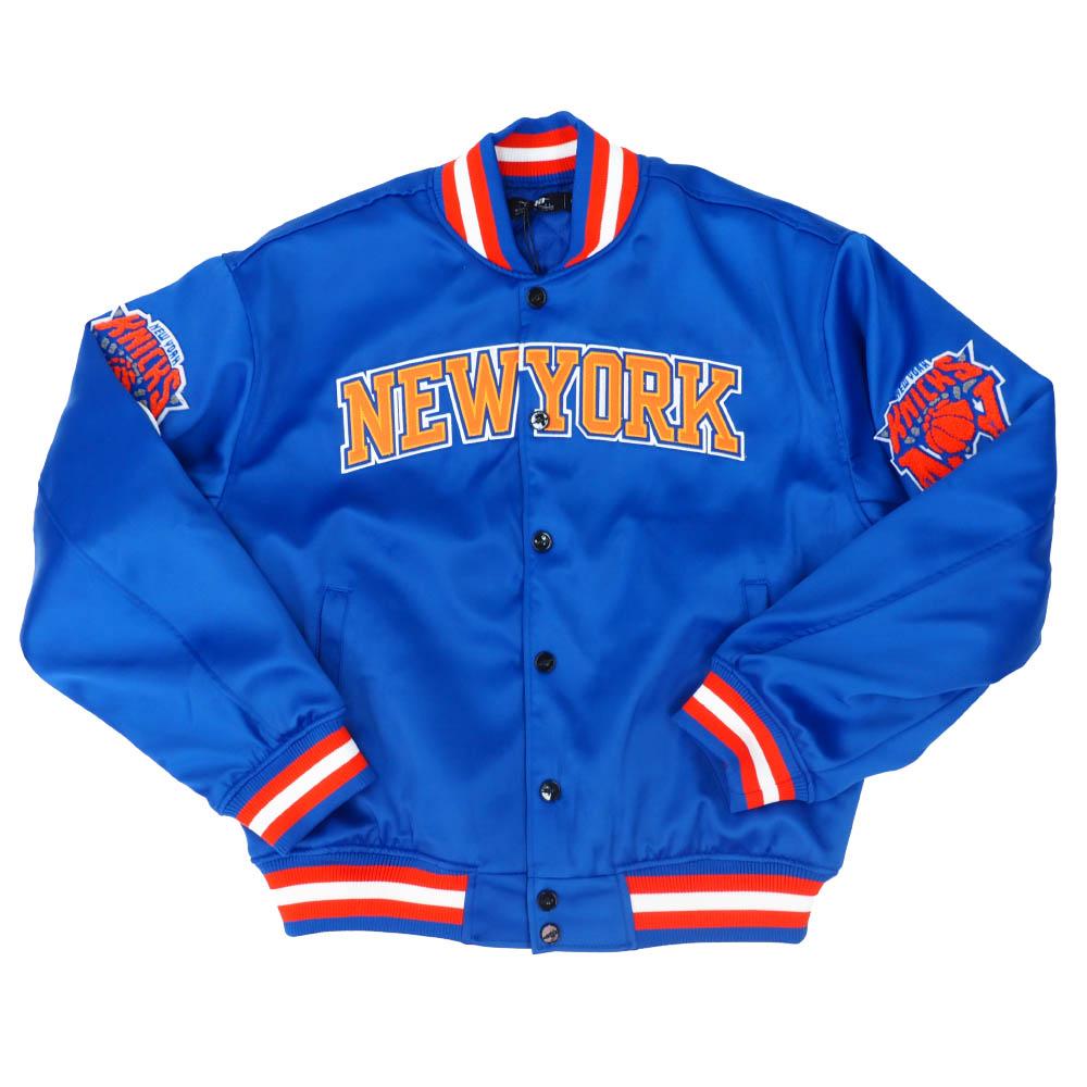 【リニューアル記念メガセール】NBA スタジャン ニューヨーク・ニックス ジャケット アウター シティー PRO STANDARD ロイヤルブルー