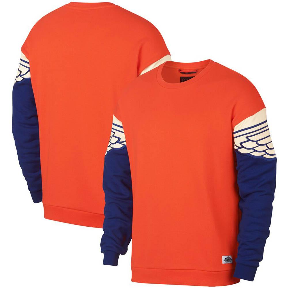 JORDAN スウェットシャツ/トレーナー Jordan Wings Classics Crew Sweat Shirt オレンジ AO0426-891