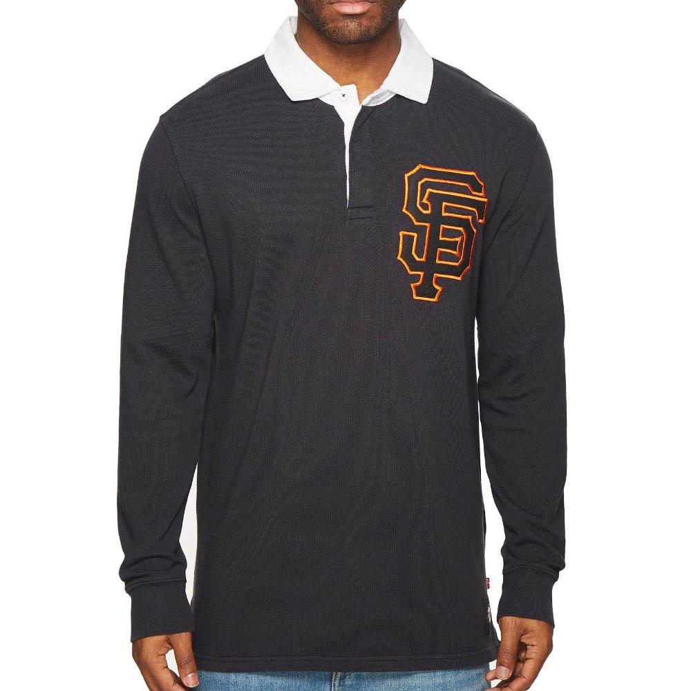 MLB ジャイアンツ Long Sleeve ラグビーシャツ Levi's ブラック