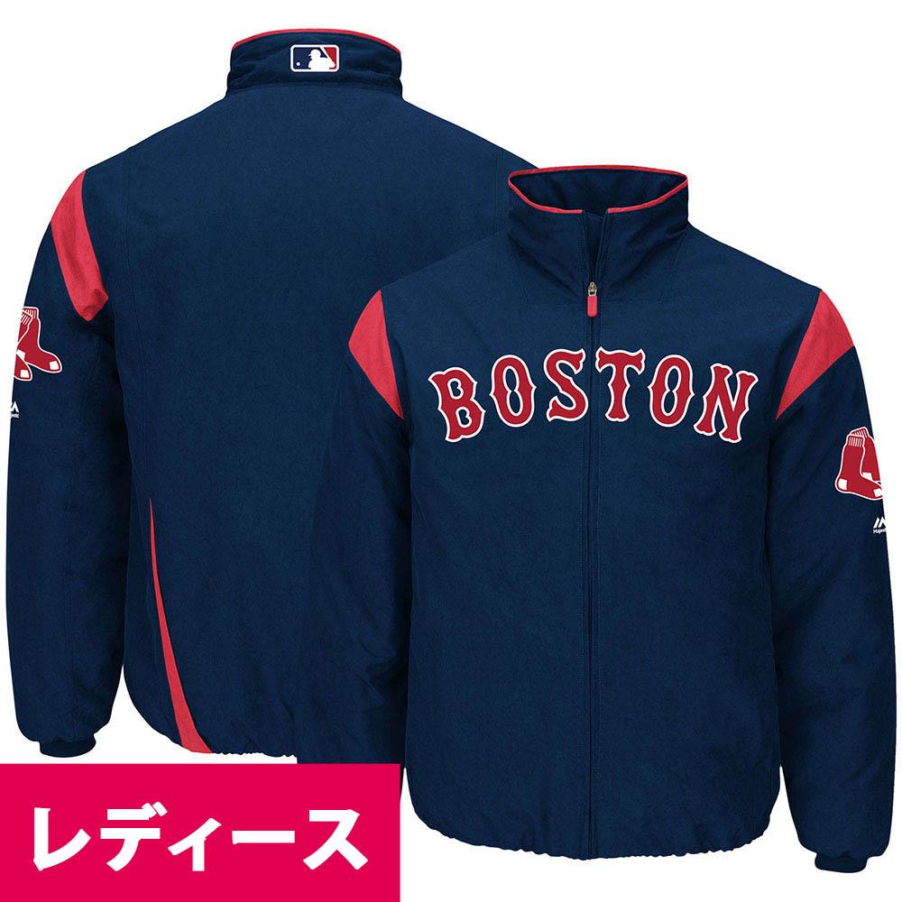 MLB ボストン・レッドソックス ジャケット/アウター オーセンティック オンフィールド プレミア マジェスティック/Majestic ネイビー
