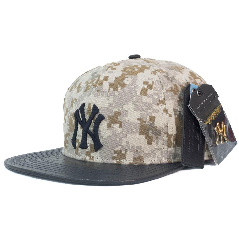MLB ニューヨーク・ヤンキース キャップ/帽子 Digital Camo Strapback Leather Hat PRO STANDARD カモ