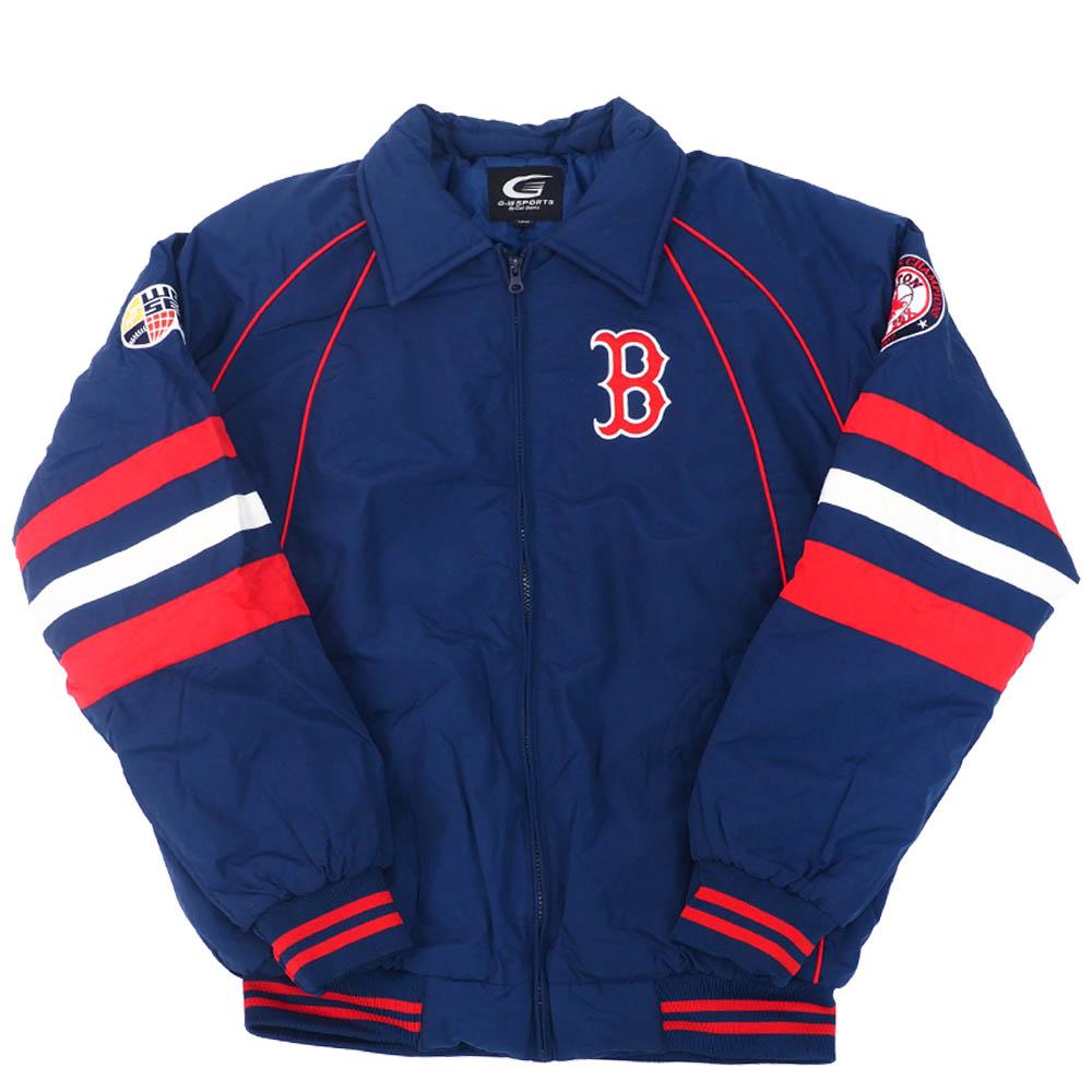 【リニューアル記念メガセール】MLB ボストン・レッドソックス ジャケット/アウター カラー ブロック ジップアップ G-III ネイビー