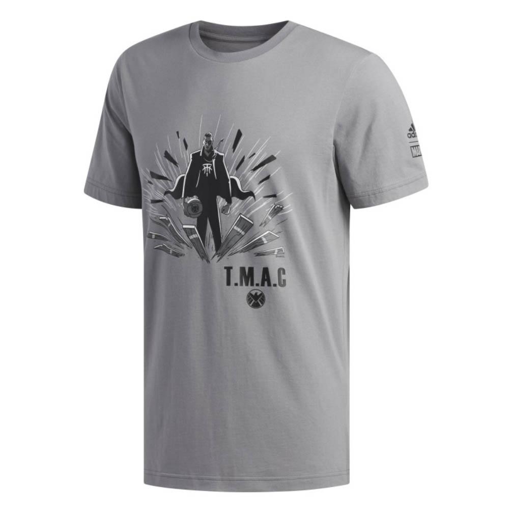 NBA トレイシー・マグレディ Tシャツ マーベル T.M.A.C. ニック・フューリー アディダス/Adidas グレー
