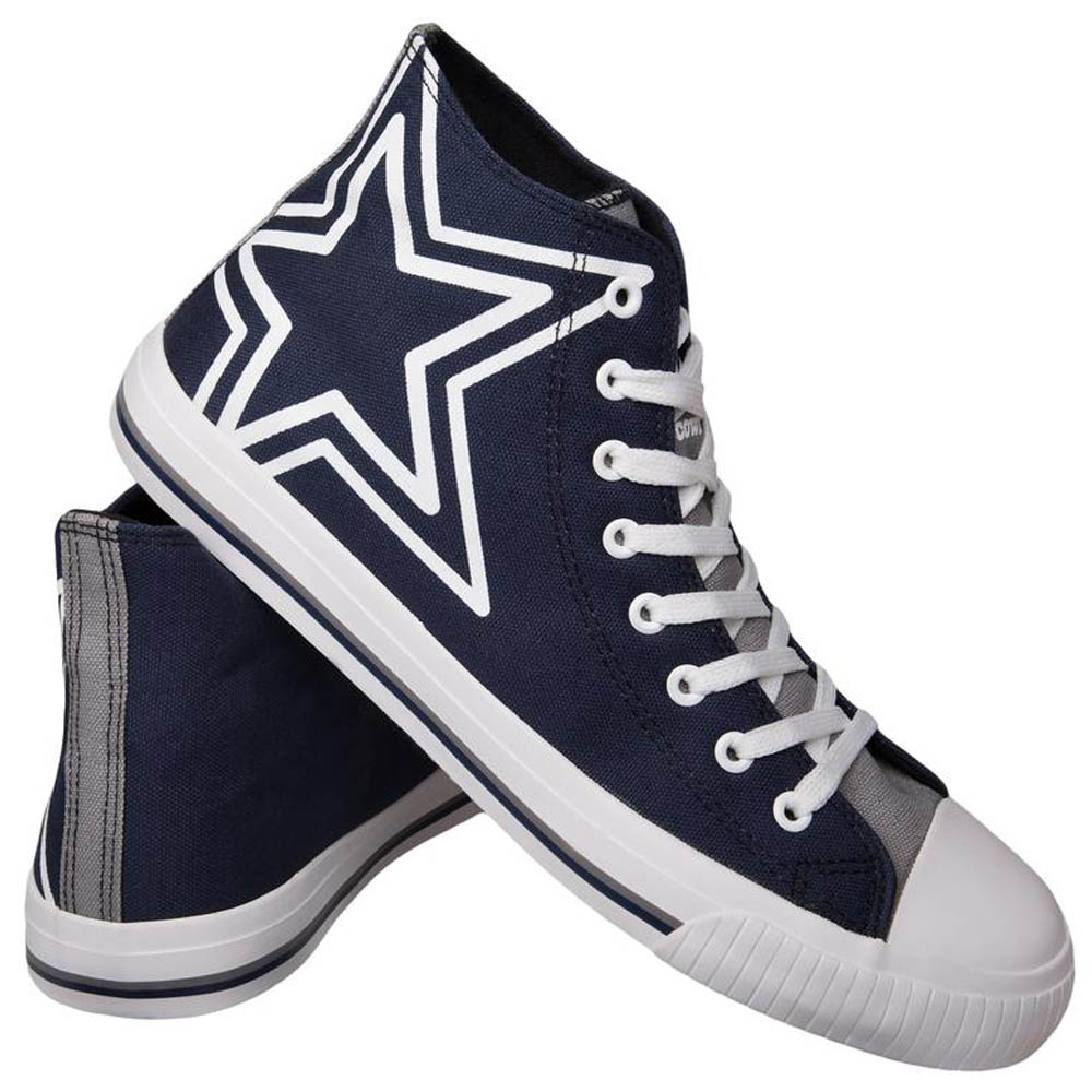 NFL カウボーイズ シューズ/スニーカー High Top Big Logo Canvas Shoes キャンバス Forever Collectibles ネイビー