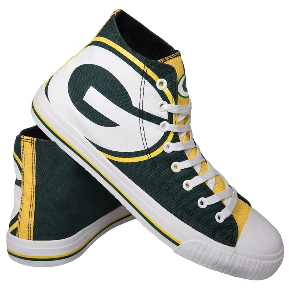 NFL パッカーズ シューズ/スニーカー High Top Big Logo Canvas Shoes キャンバス Forever Collectibles グリーン