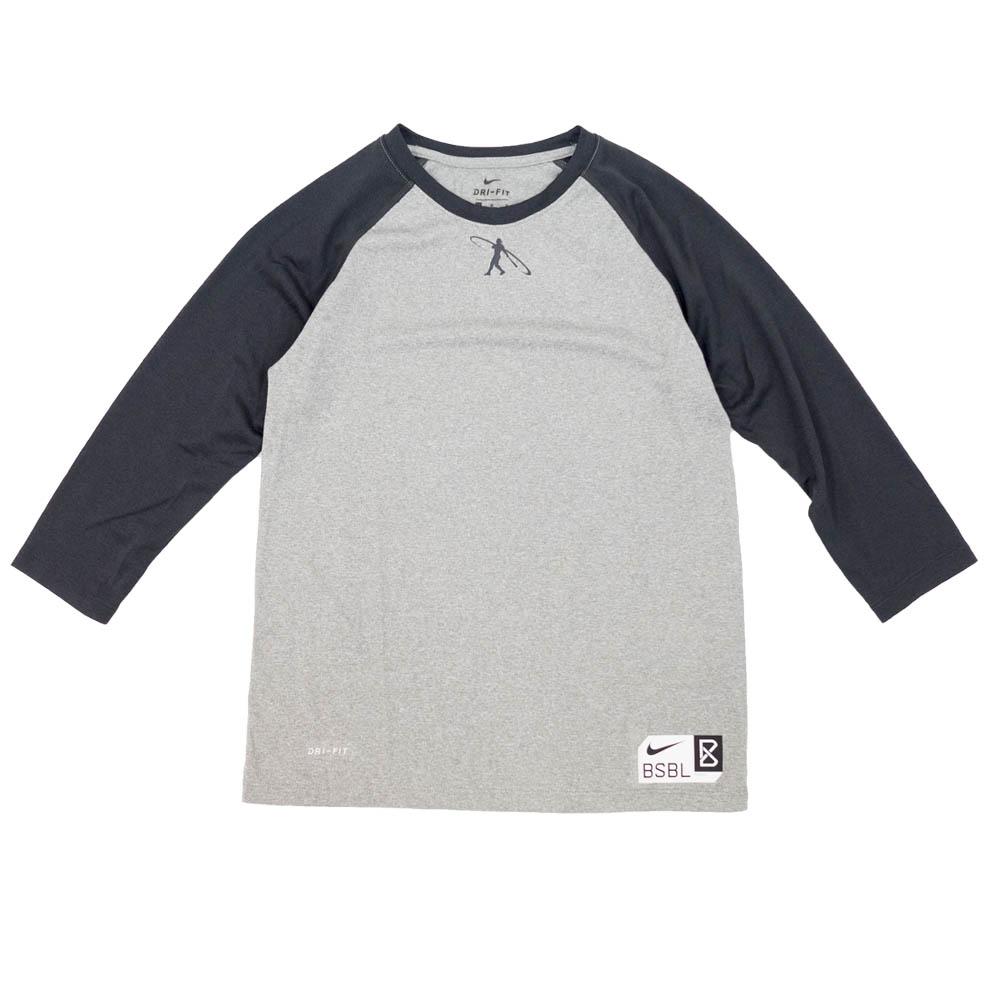 GRIFFEY ケン・グリフィーJR. Tシャツ Youth Swingman Legend 3/4 Sleeve Raglan Tee ナイキ/Nike チャコール 889140-063
