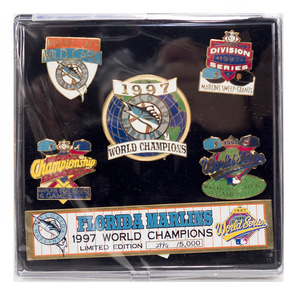 MLB フロリダ・マーリンズ 1997 World Series Champions ピンズ セット IMPRINTED PRODUCTS