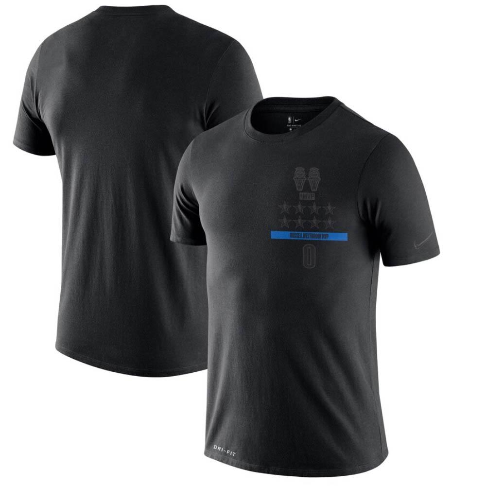 NBA ラッセル・ウェストブルック オクラホマシティ・サンダー Tシャツ MVP T-Shirt ナイキ/Nike ブラック