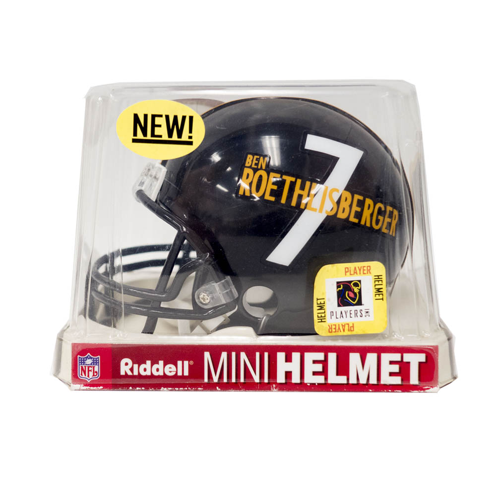 NFL ベン・ロスリスバーガー スティーラーズ Player Mini Helmet Riddell