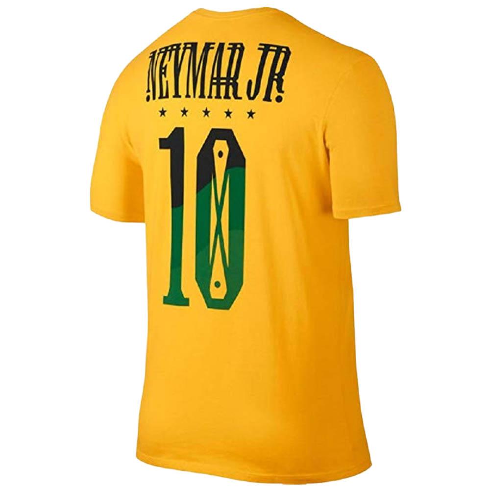 Nike FB ネイマ―ル サッカーブラジル代表 Tシャツ ネイマ―ル ヒーロー ナンバー ナイキ/Nike イエロー 838155-703