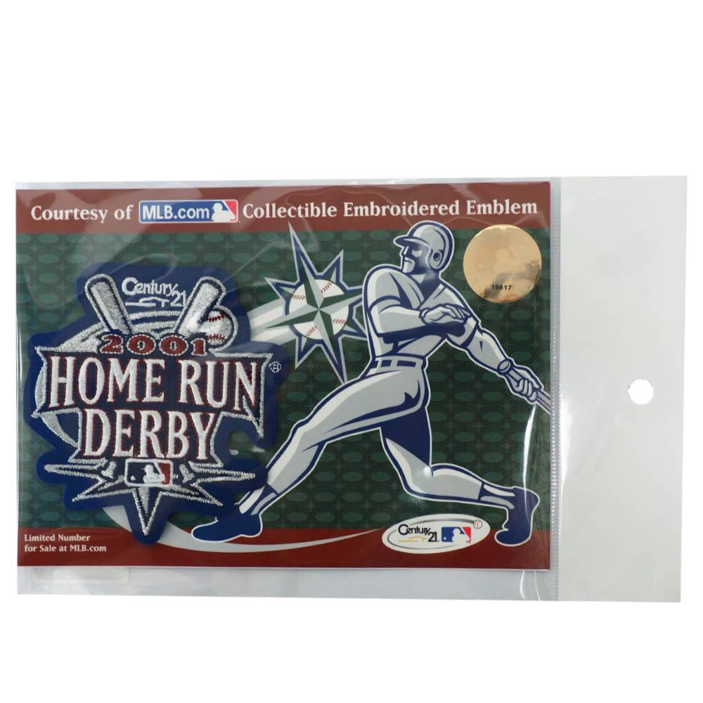 あす楽対応 激レアストック MLBワッペン 大特価!! 期間限定今なら送料無料 MLB 2001 Home Emblem Collectible Derby Tun Embroidered ワッペン